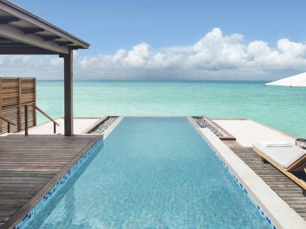 Hotel Fairmont Maldives Water Villa Plunge Pool Landscape