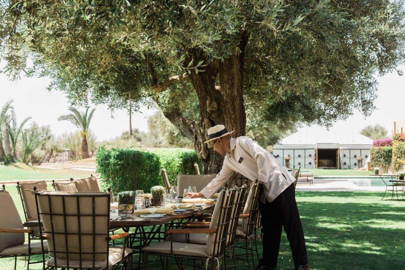 Amanjena Poolside Outdoor Dining