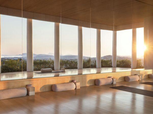 Amanzoe Spa Yoga Room