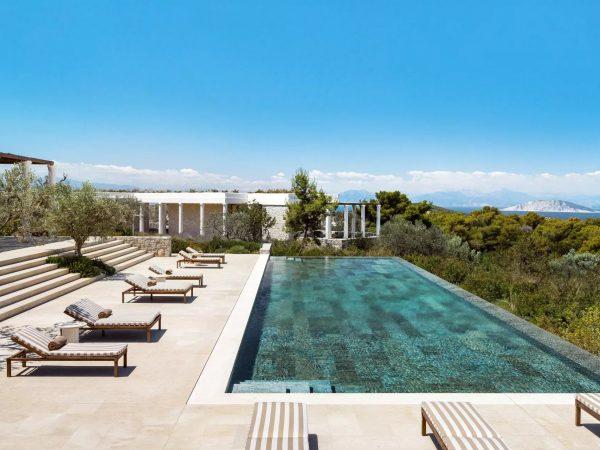 Amanzoe terrace pool 5 bedroom villa