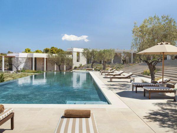 Amanzoe terrance pool 6 bedroom villa