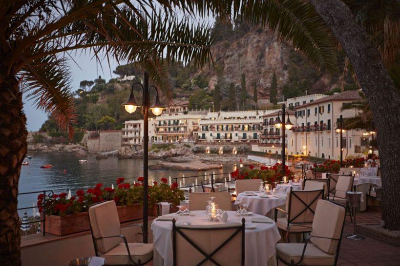 Belmond Villa Sant Andrea Sicily dining