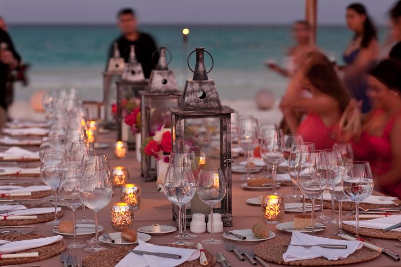 Belmond Villa Sant Andrea beach dinner