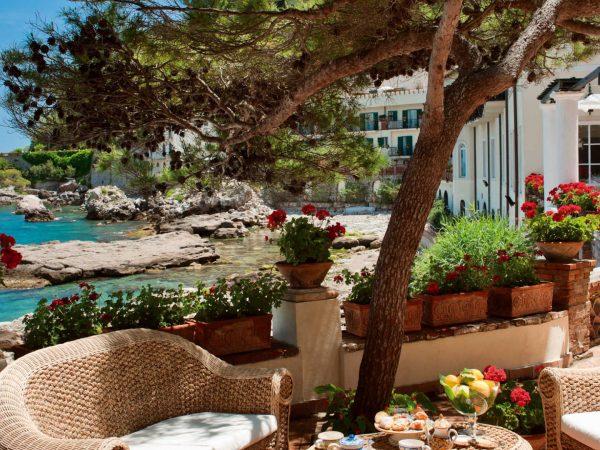 Belmond Villa Sant Andrea outdoor dining