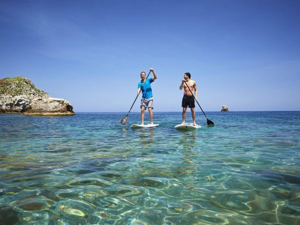 Belmond Villa Sant Andrea paddle boarding