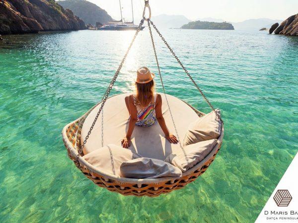D Maris Bay Datca Peninsula Turkey Ocean Sofa