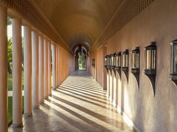 Exterior corridor leading to main swimming pool