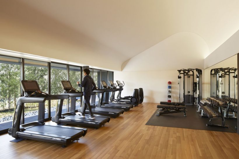 The gym and fitness centre include state-of-the-art cardiovascular and strength-training