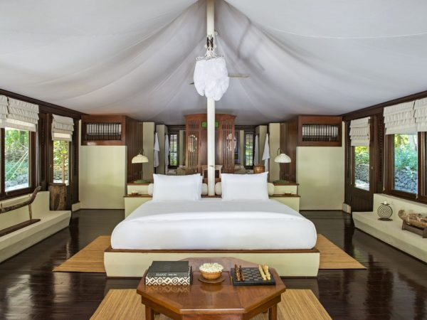 Amanwana's Tents Are Elegantly Proportioned 58 sqm Living Spaces With Solid Wall Foundations, Roofed By Soaring Waterproof Exteriors And Interior Ceilings Of Canvas.