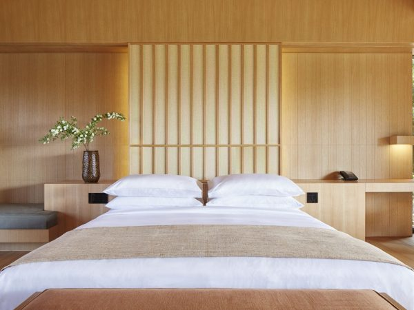 All Bedrooms Feature Light Shades Of Japanese Timber And Woven Textile Shutters