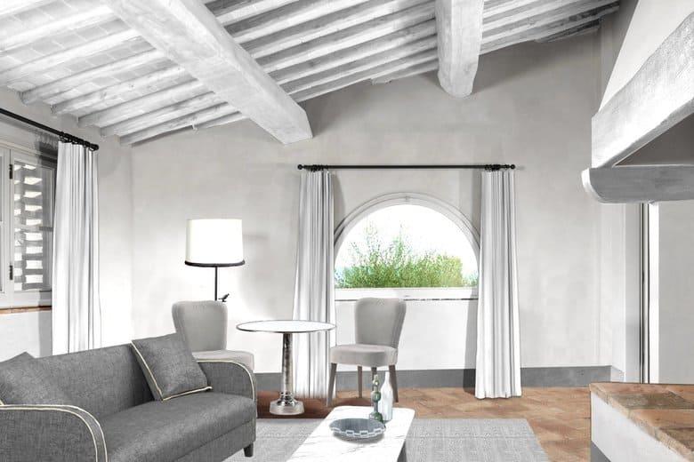 como castello del nero tavarnelle suite living room