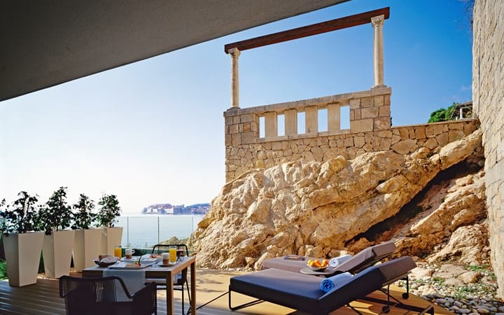 Villa Dubrovnik romance suite with seaview and terrace