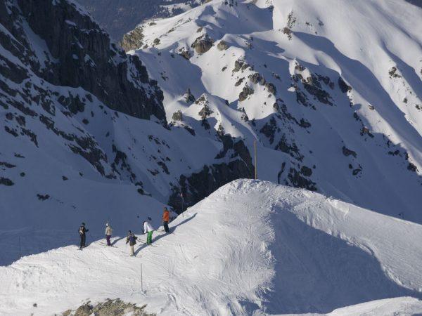 Courchevel Skiing Scene