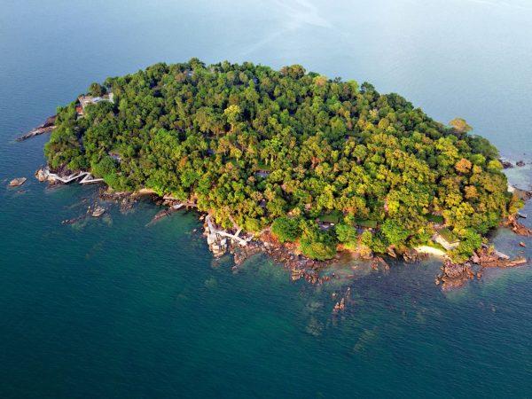 Krabey Island Aerial View