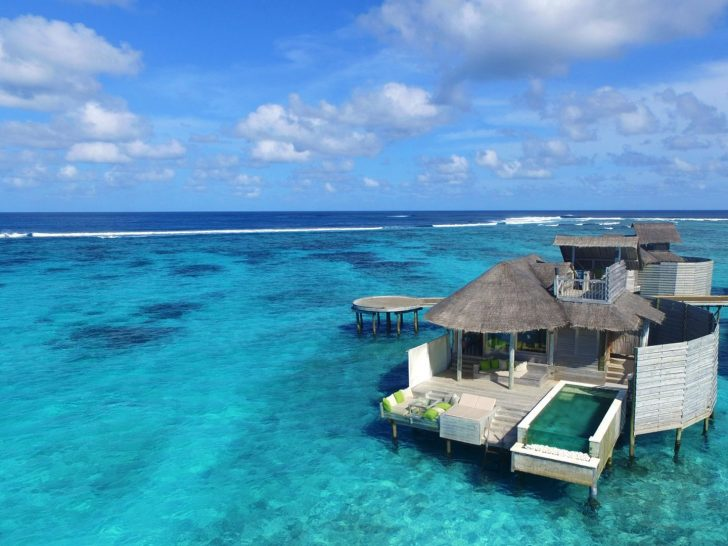 Laamu Water Villa With Pool Aerial View