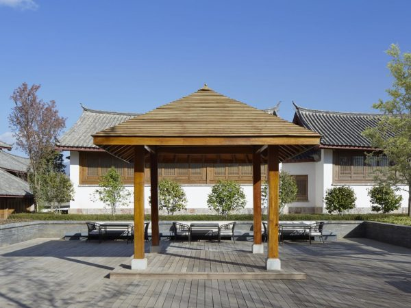 A lofty 600 sqm deck with exceptional views overlooking Lijiang Old Town and the mountains beyond.