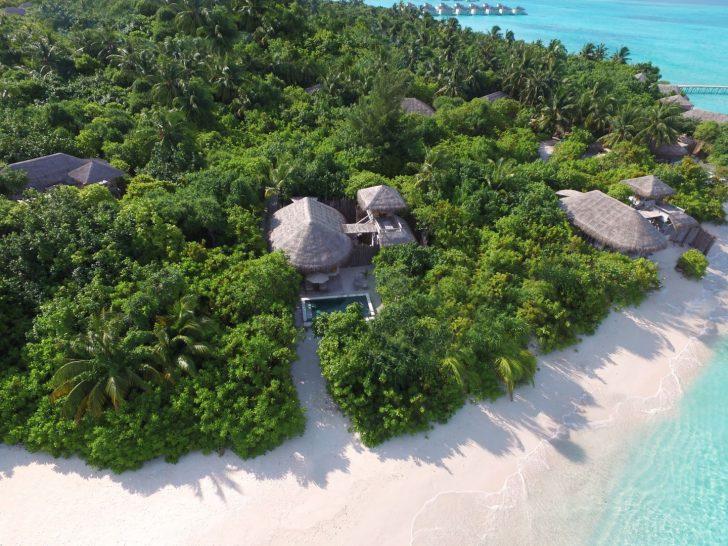 Ocean Beach Villa With Pool Aerial View