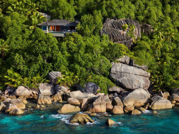 Ocean Front Pool Villa Aerial