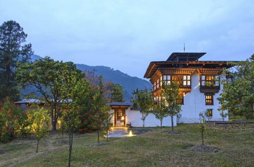 11 Punakha Lodge Exterior Night