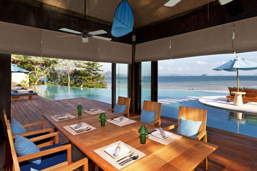 Royal Horizon Pool Villa Dining Room