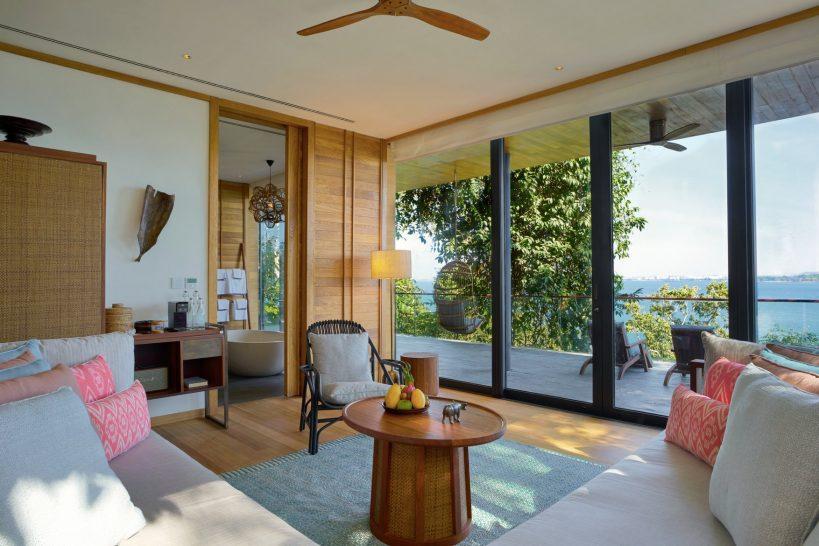 Six Senses Krabey Island Oceanfront Two Bedroom Pool Villa Living Room
