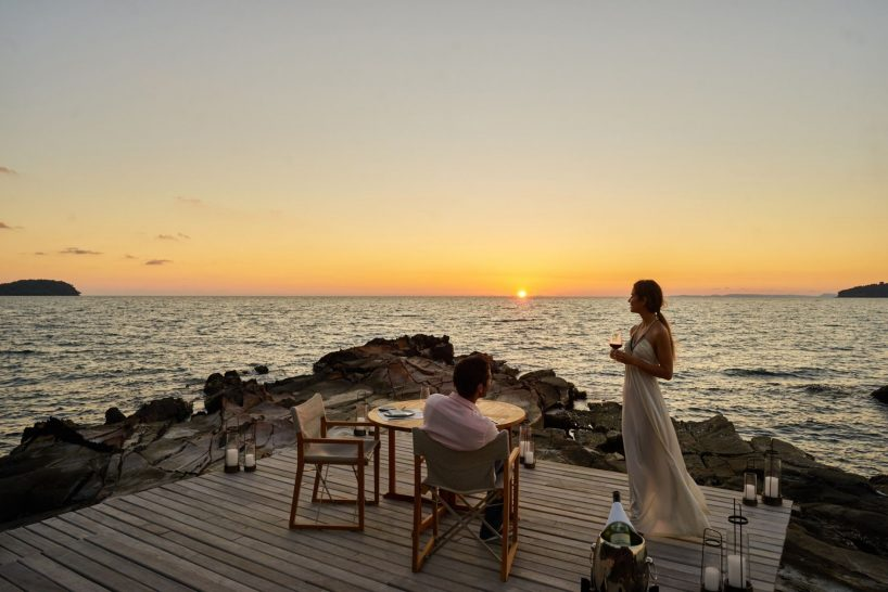 Six Senses Krabey Island Romantic boardwalk dinner
