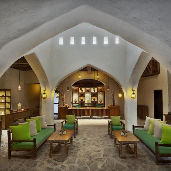 Six Senses Zighy Bay Spa Reception