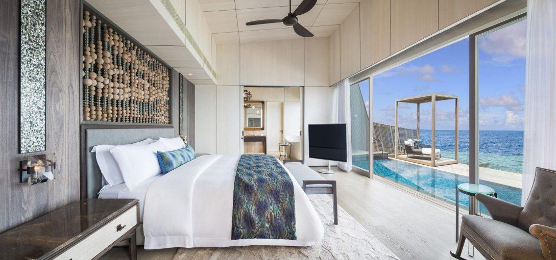 St Regis Vommuli Maldives Overwater Suite Bedroom