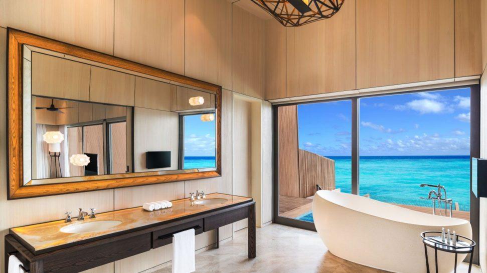 St Regis Vommuli Maldives Overwater Villa Bathroom