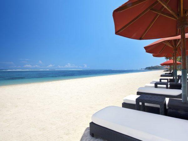 The Pristine White Sand Beach Of The St Regis Bali Resort