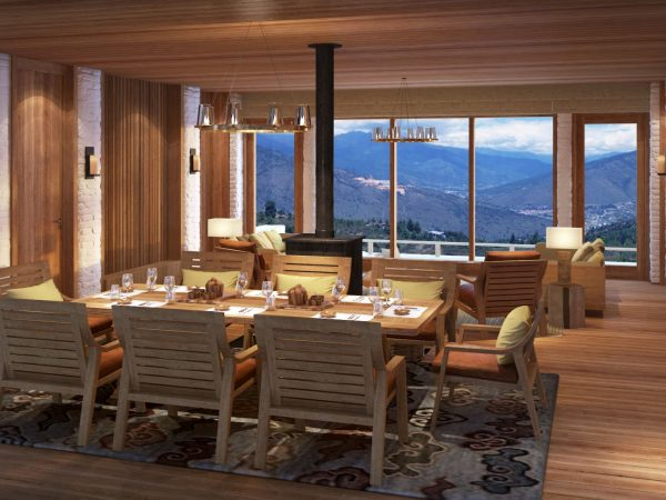 Thimphu 2&3 Bedroom Villa Living Dining area