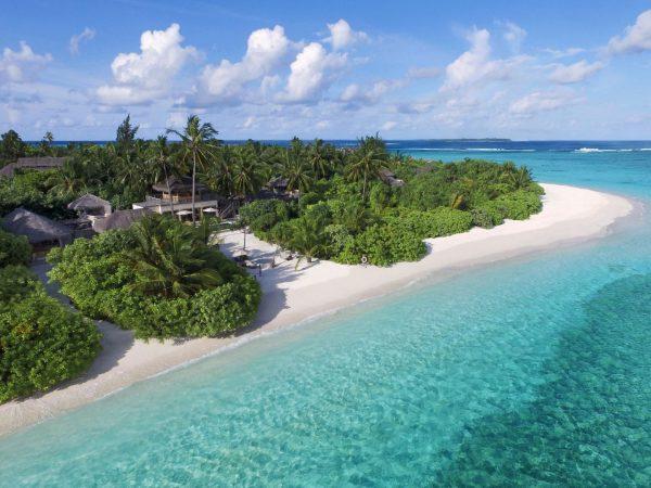 Two Bedroom Ocean Beach Villa Lagoon Aerial View