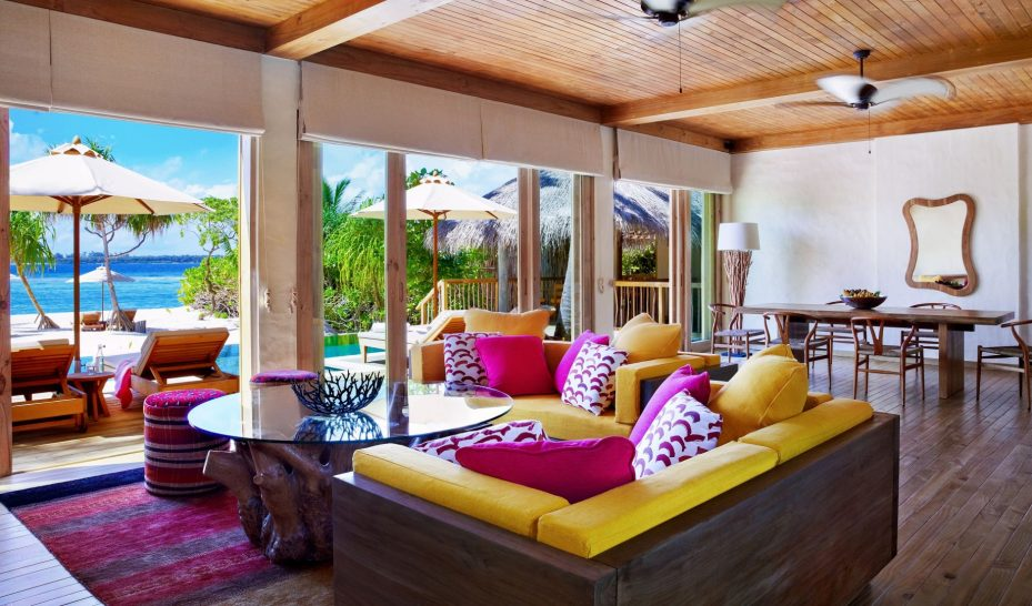 Two Bedroom Ocean Beach Villa with Pool Living Room