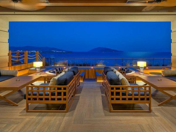 Caresse Bodrum Glass Lounge Bar Open Area