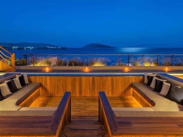 Caresse Bodrum Glass Lounge Bar Riva Lounge View