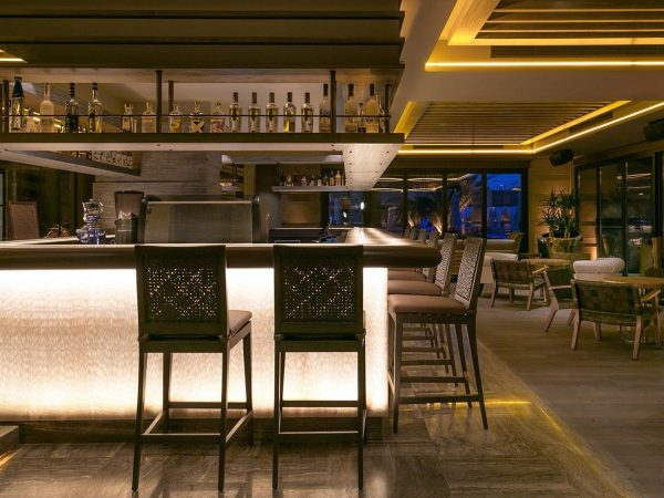 Caresse Bodrum Glass Lounge Bar View