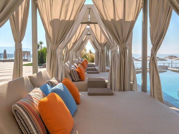 Caresse Bodrum Infinity Pool Area Cabanas
