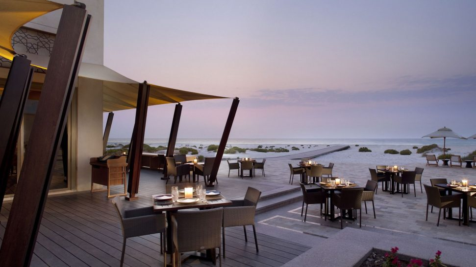 Park Hyatt Abu Dhabi Beach House Sunset Dining