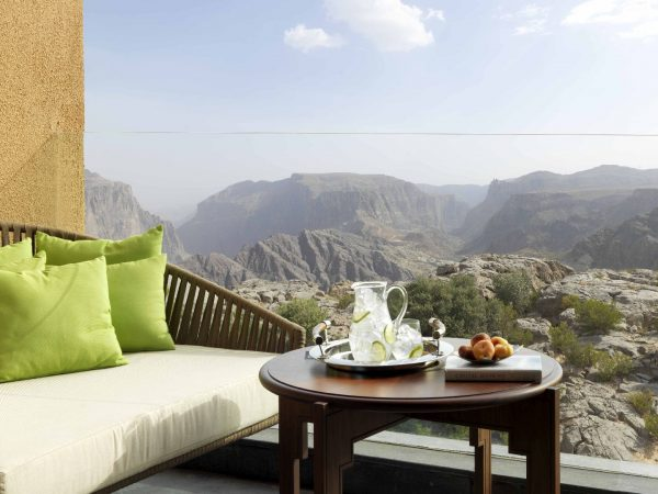 Anantara Al Jabal Al Akhdar Resort Deluxe Canyon View Room Balcony
