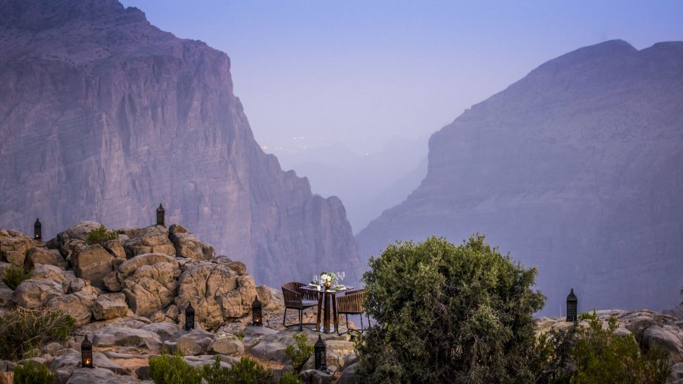 Anantara Al Jabal Al Akhdar Resort Dining by Design Cliff