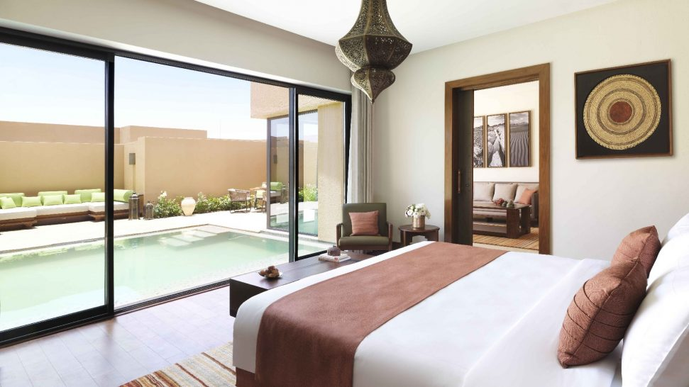 Anantara Al Jabal Al Akhdar Resort One Bedroom Garden Pool Villa Bedroom