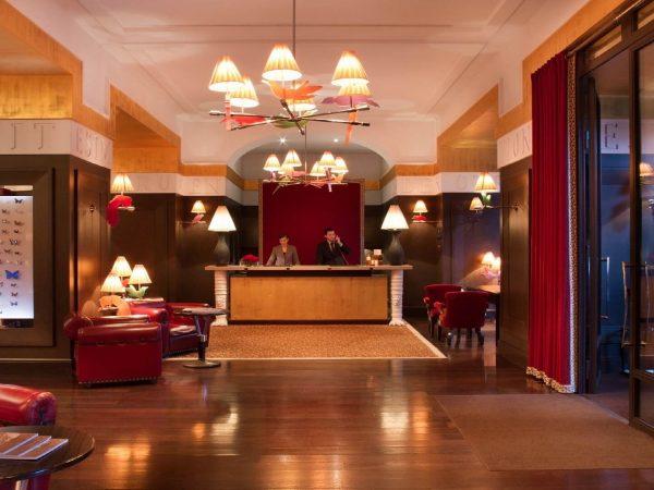 La Reserve Geneve hotel reception