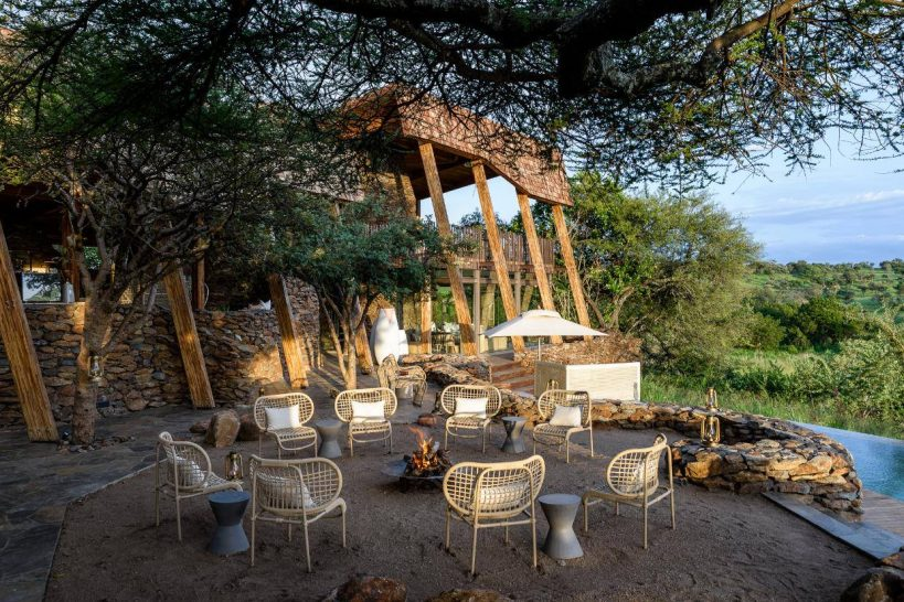 Singita Faru Faru Lodge Grumeti Dining