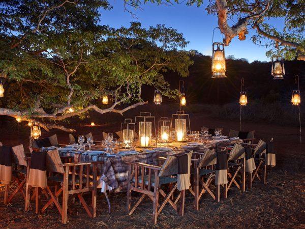 Singita-Pamushana-Lodge-Outdoor-Evening-Dinner