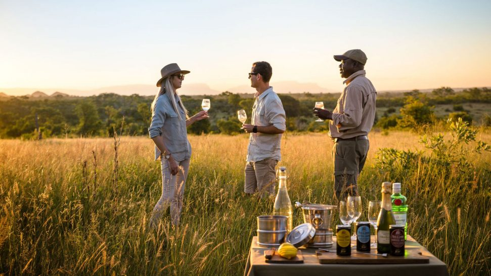 Singita boulders lodge cocktails