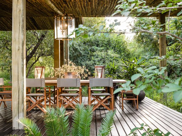 Singita Ebony Lodge Deck Dining