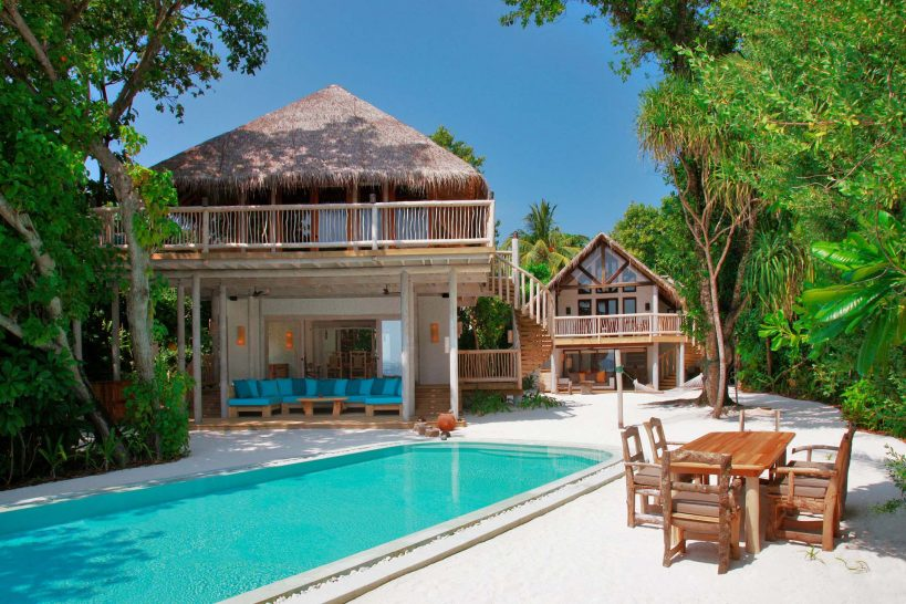 Soneva Fushi Crusoe Villa Suite 3 Bedroom with Pool Exterior