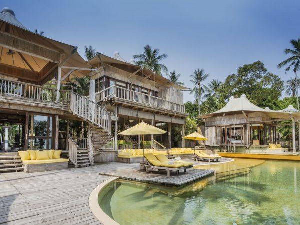 Soneva Kiri Private Beach Pool Reserve 5BR exterior by Asit Maneesarn