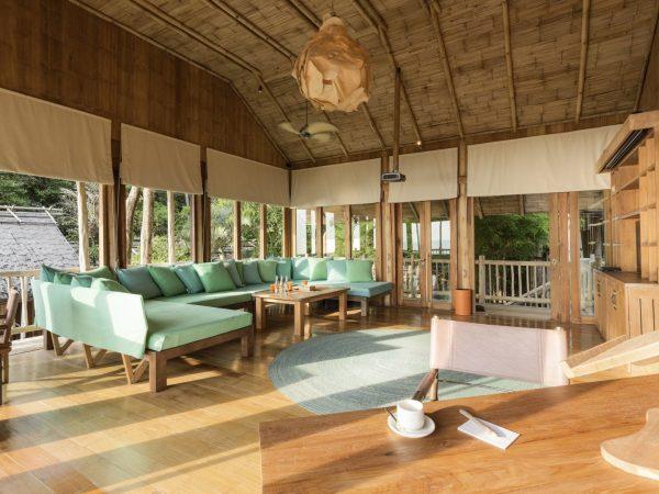Soneva Kiri Private Cliff Pool Reserve 4BR (V.61) TV lounge by Asit Maneesarn