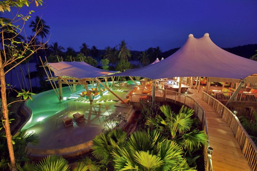 Soneva Kiri Resort Thailand Main Pool Night by Jerome Kelakopian